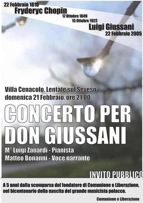 2010 concerto in memoria di don Giussani