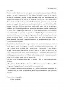 Lettera di don Beppe per la morte di Alberto Folli 2 Aprile 2017